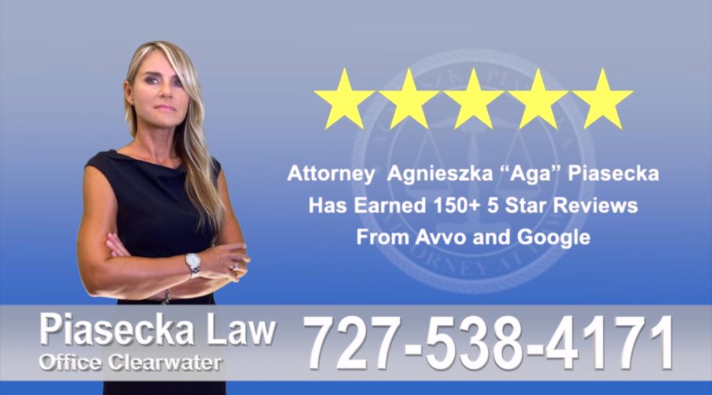 Agnieszka, Aga, Piasecka, Client, reviews, avvo, google, five star 5-star, superb, best attorney