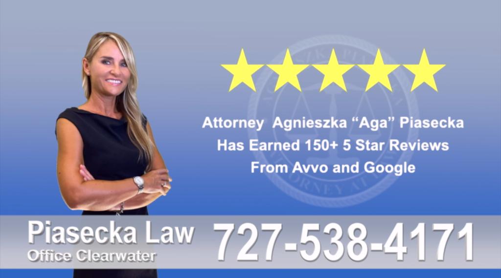 Agnieszka, Aga, Piasecka, Client, reviews, avvo, google, five star, 5-star, superb, best attorney