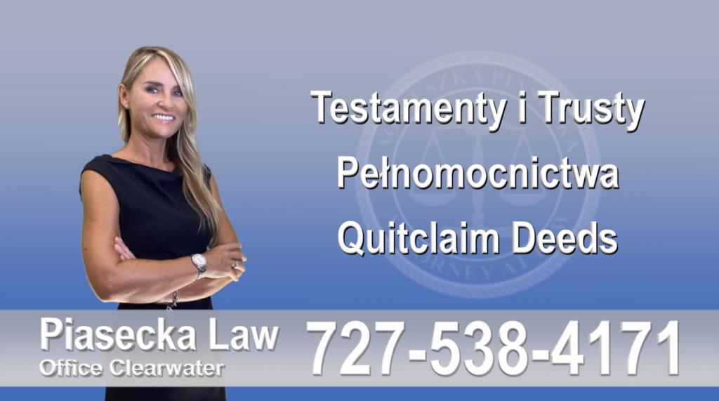 Testamenty, trusty, pełnomocnictwa, Quitclaim, Deed